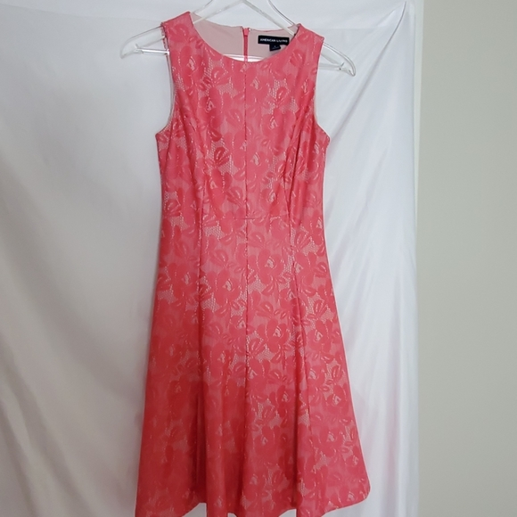 American Living Dresses & Skirts - American Living Pink and  Cream dress. Size 4